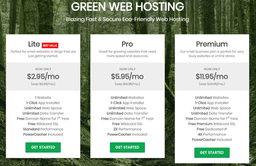 greengeeks hosting plans min