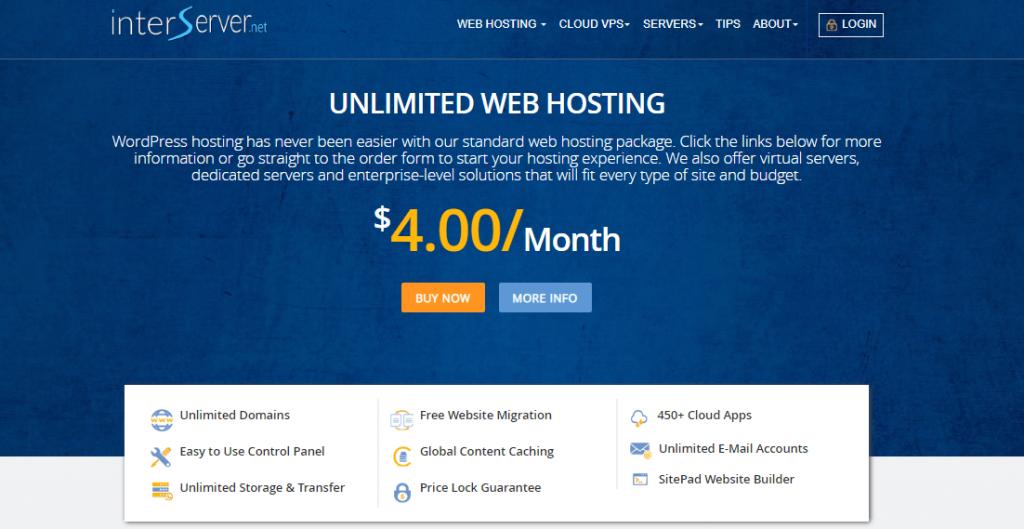 interserver hosting min